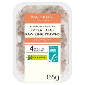Waitrose raw extra large King prawns