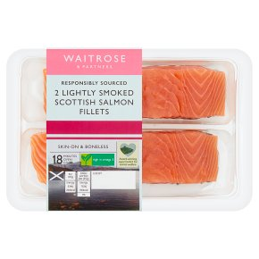 Waitrose 2 lightly smoked salmon fillets