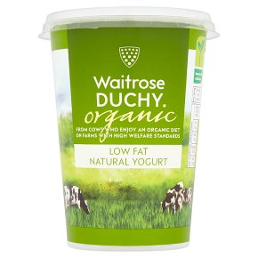 Waitrose Duchy Organic low fat natural yogurt