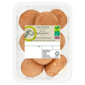 Waitrose Duchy Organic chestnut mushrooms
