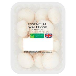 essential Waitrose closed cup mushrooms