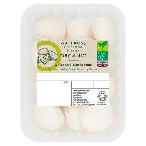 Waitrose Duchy Organic white cup mushrooms