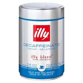Illy decaffeinated ground coffee espresso