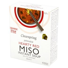 Clearspring miso soup with sea vegetable, 4 servings