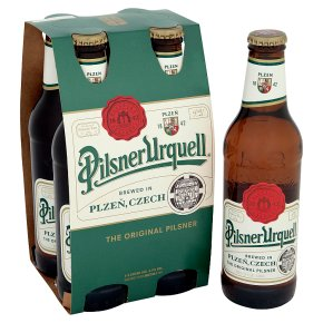 Pilsner Urquell Czech lager 4 x 330ml Bottles