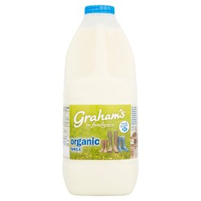 Graham's organic whole Scottish milk