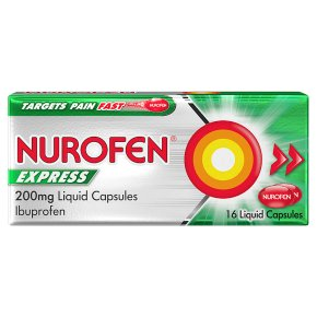 Nurofen Express 16 ibuprofen capsules (200mg)
