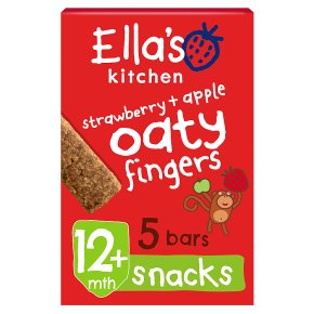 Ella's Kitchen Organic strawberries and apples nibbly fingers baby food