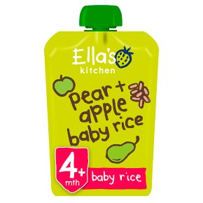 Ella's Kitchen Organic pears, apples & baby rice - stage 1  baby food