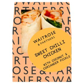 Waitrose sweet chilli chicken wrap
