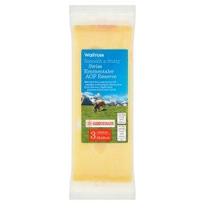 Waitrose Swiss medium Emmentaler cheese, strength 3
