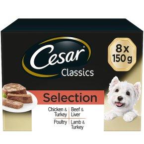 CESAR Classics Dog Trays Mixed Selection 8 x 150g