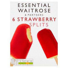 essential Waitrose 6 strawberry splits