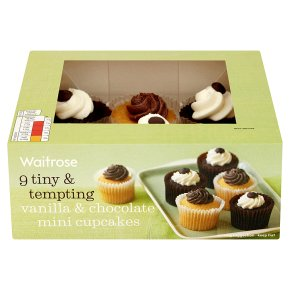 Waitrose vanilla & chocolate mini cupcakes