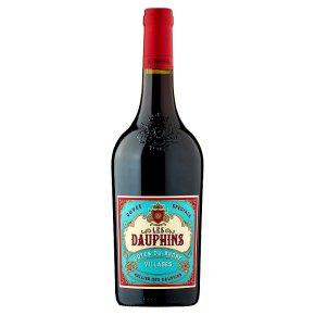 Les Dauphins Cotes du Rhone Village, French, Red Wine