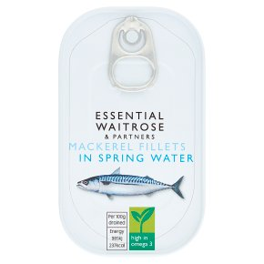 essential Waitrose MSC mackerel in spring water