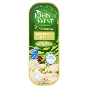 John West steamed mackerel fillets in olive oil