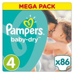 Pampers baby dry mega pack 4 7-18kg