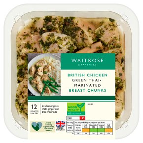 Waitrose Green Thai Marinated Chicken Breast Chunks