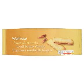 Waitrose 10 vanilla Viennese fingers