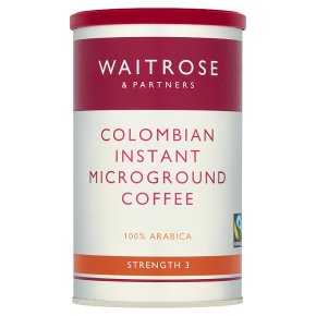 waitrose fairtrade colombian instant microground coffee. Black Bedroom Furniture Sets. Home Design Ideas