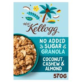 W.K. Kellogg Cereal No Added Sugar Granola Coconut, Cashew & Almond