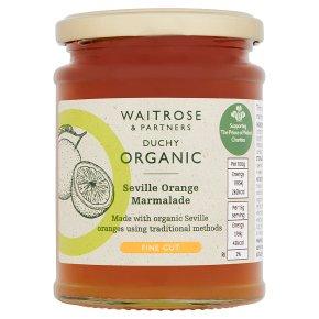 Waitrose Duchy Organic thin cut Seville orange marmalade