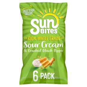 Sunbites sour cream & pepper multigrain multipack crisps
