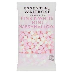 essential Waitrose Mini Pink & White Marshmallows
