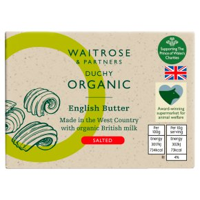 Waitrose Duchy Organic English salted butter