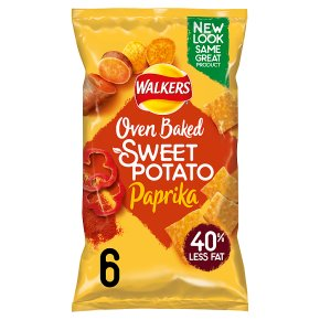 Walkers Oven Baked with Veg Sweet Potato with Paprika