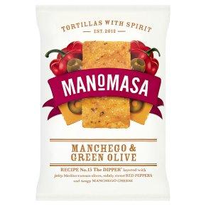 Manomasa tortillas manchego & green olive