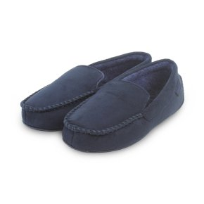 Totes pillowstep suedette mocc navy