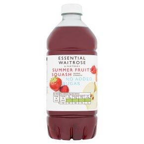 essential Waitrose summer fruits squash