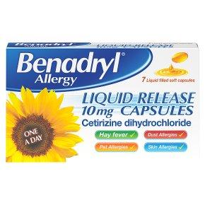 Benadryl gel cap