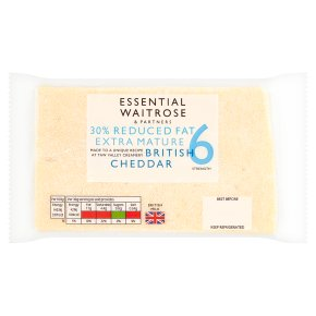 essential Waitrose 30% Lighter Extra Mature Cheese 6