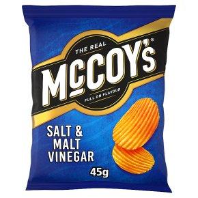 McCoy's Ridge Cut Salt & Malt Vinegar Crisps