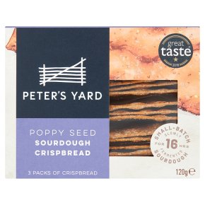 Peter's Yard Sourdough Crispbread Spelt & Poppy Seed