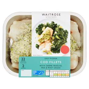 Waitrose Easy To Cook cod fillets & creme fraiche