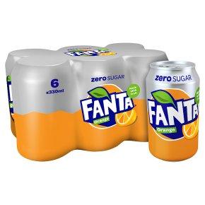 Fanta Zero orange multipack cans