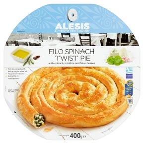 Alesis Filo Spinach Twist Pie