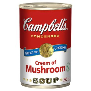 Campbell's condensed cream of mushroom soup
