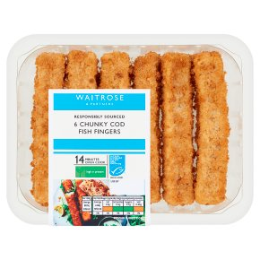 Waitrose 6 Chunky Cod Fish Fingers