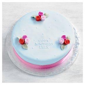 Fiona Cairns Blue Vintage rose cake