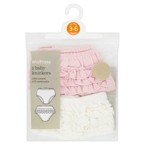 Waitrose baby knickers, pack of 2
