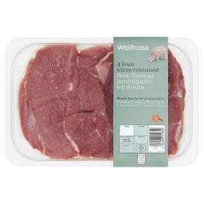 Waitrose New Zealand lamb leg steaks x4