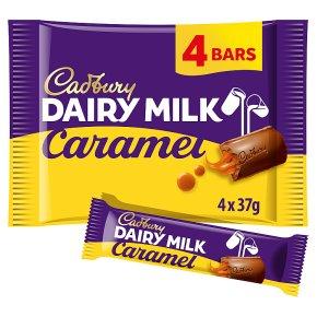 Cadbury Dairy Milk caramel chocolate bar 4 pack