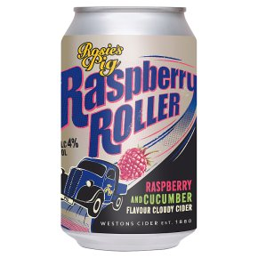 Rosie pig Raspberry Roller Cider Herefordshire