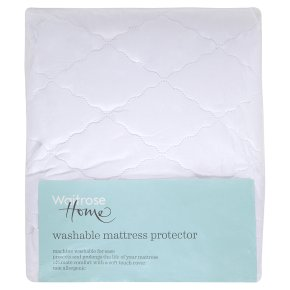 John Lewis Single Soft Touch Washable Mattress Protector