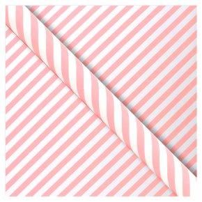 Waitrose Gift Wrap 2M Pink Candy Stripe